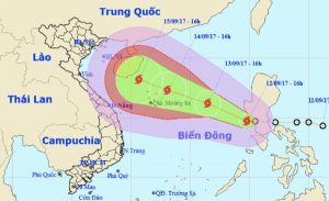 bão số 10 năm 2017 ảnh hưởng đến việt nam
