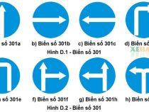 Giải thích câu hỏi về biển hiệu lệnh 301 (hướng phải đi)
