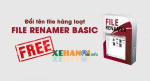 phần mềm đổi tên file hàng loạt miễn phí File Renamer Basic