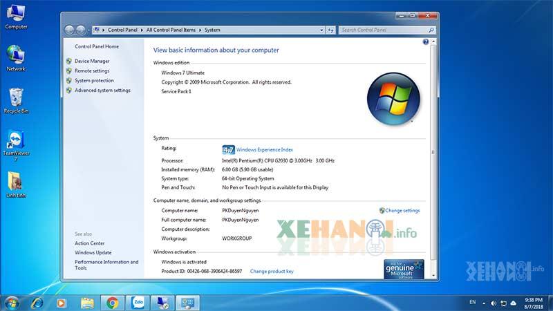 Tải windows 7 ultimate full bản quyền