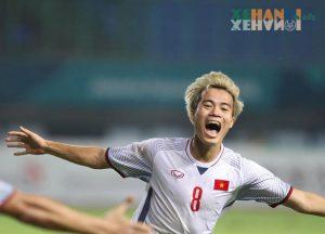 Văn Toàn ghi bàn thắng trong Asiad 2018