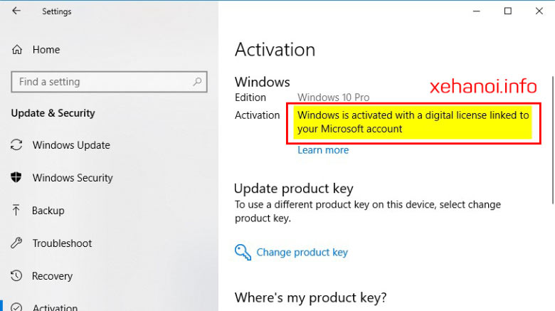 Cách kiểm tra cách Active Windows 10 Digital License