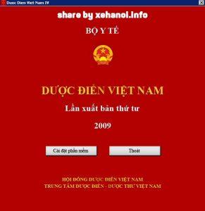 Dược điển Việt Nam 4 được xuât bản năm 2009