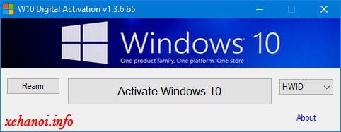 Bật phần mềm W10 Digital Activation Program