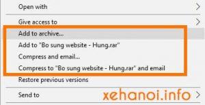 Tắt biểu tượng Winrar trong trình đơn ngữ cảnh Windows