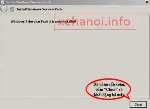 Hoàn thành cài đặt Windows 7 SP1