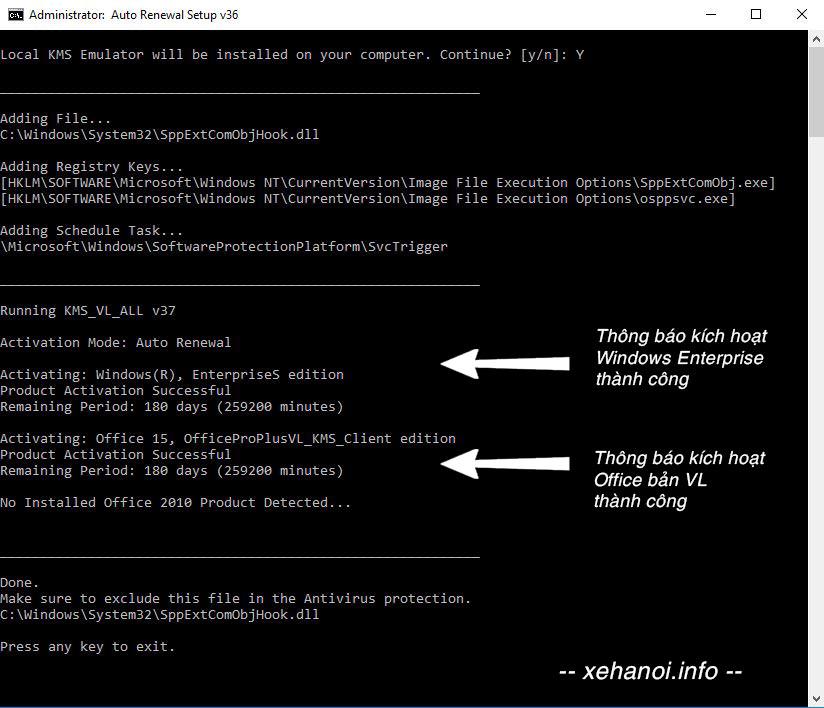 Kích hoạt Windows Office bằng KMS_VL_ALL