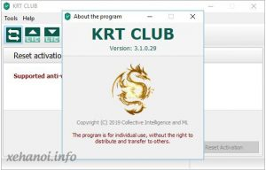 KRT Club 3.1.0.29 kích hoạt Kaspersky Internet Security