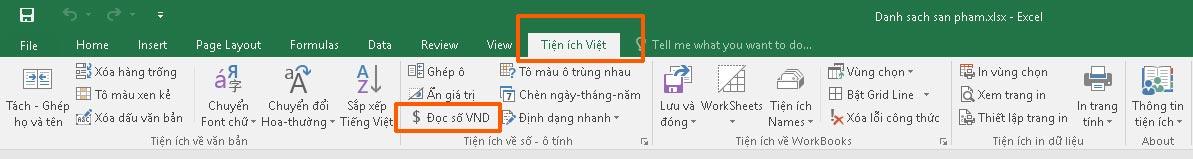 Chức năng chuyển số thành chữ trong Excel
