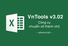 Phần mềm đổi số thành chữ vnTool v3.02 trong Excel
