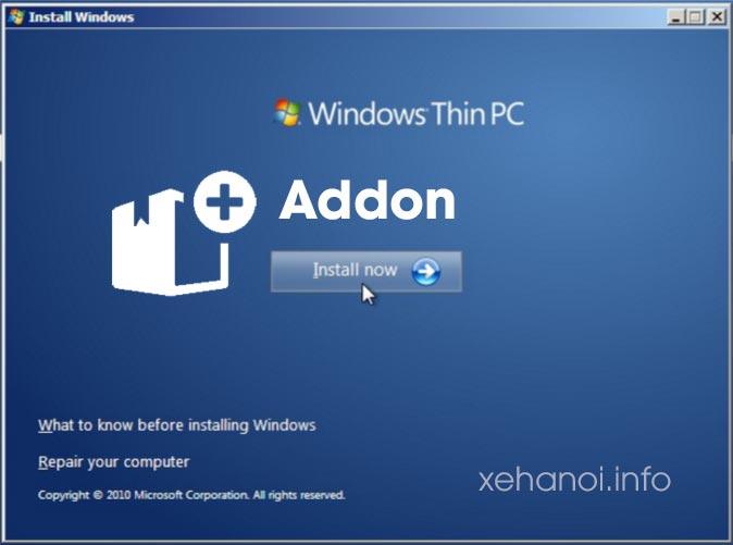 Các gói bổ sung tính năng cho Windows 7 ThinPC