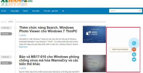 Tạo nút gọi, zalo, skype, email trên website siêu đẹp
