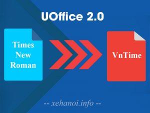 Phần mềm chuyển đổi font chữ UOffice 2.0