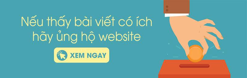 Ủng hộ website